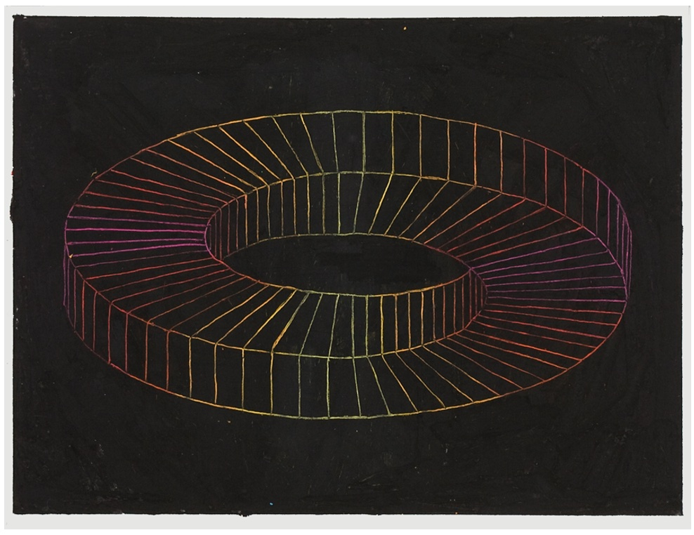 Picture of art work: Kerry Tribe, Untitled, 2009. Wax crayon and oil pastel on paper. image courtesy of the artist